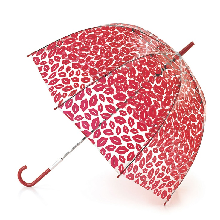 Birdcage Red Lips Umbrella | Umbrellas | Designer Accessories | Lulu Guinness