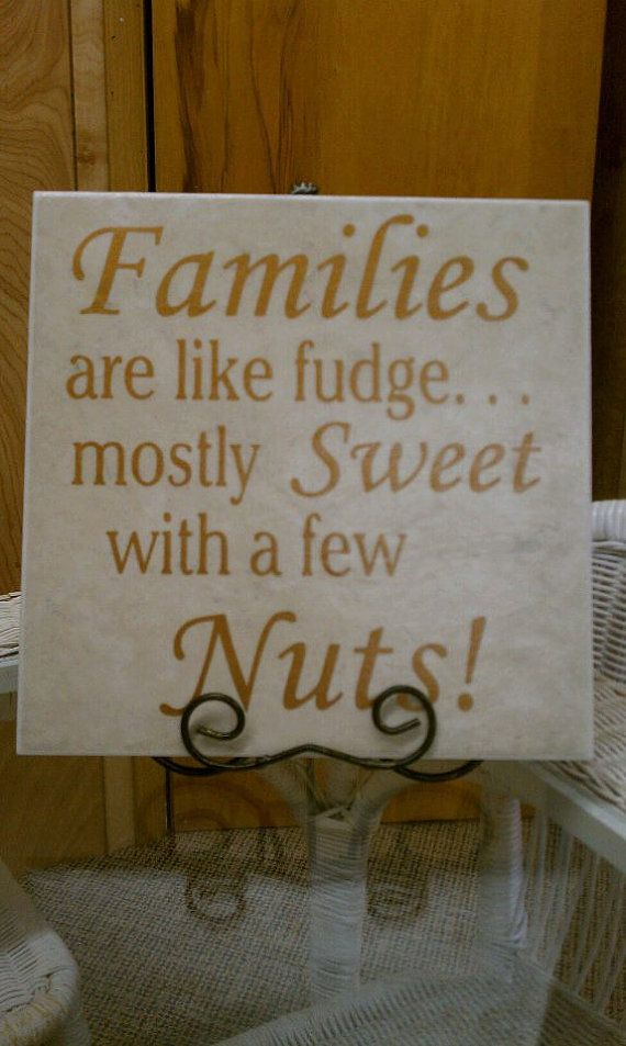 Families Are Like Fudge Tile by BlingNSwing on Etsy, $24.95