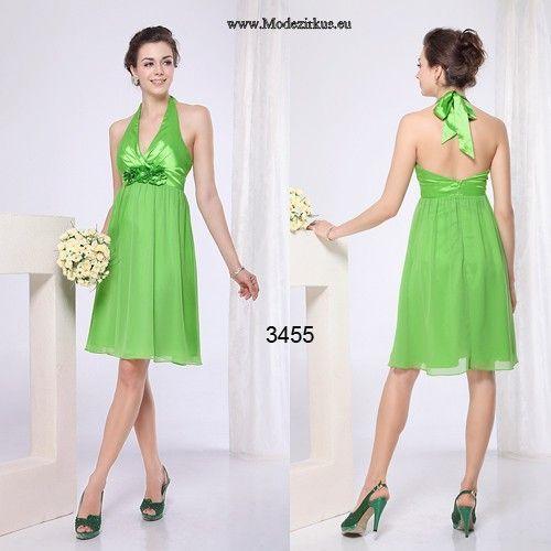 Grünes Neckholder Empire Trauzeugin Kleid #mode #fashion # ...