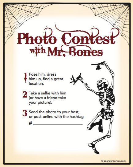 Photo Contest Halloween Games. Free Printable | Sparkler http://sparklerparties.com/free-halloween-party-game-printables/