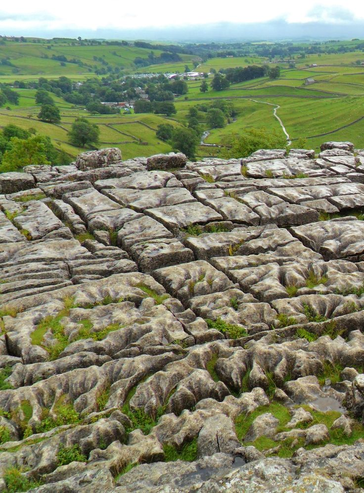 Limestone pavement, Malham Cove, Yorkshire - film location for Harry Potter Deathly Hallows, the Tent Scene. by vwcampervan-aldridge