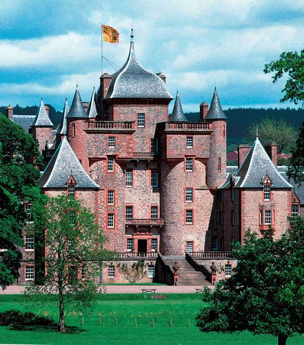 Thirlestane Castle is a castle set in extensive parklands near Lauder in the Borders of Scotland. The site is aptly named Castle Hill, as it stands upon raised ground. However, the raised land is within Lauderdale, the valley of the Leader Water.