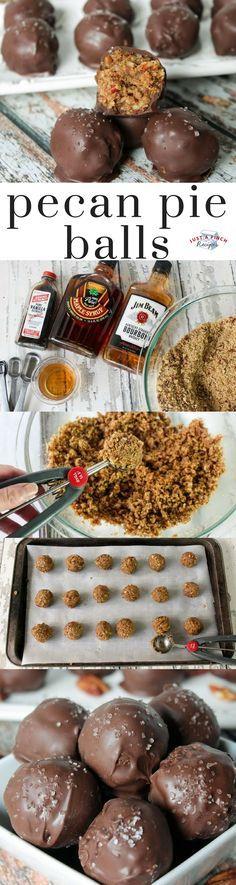 Bite-sized pecan pie balls recipe is perfect for an easy Thanksgiving dessert! #pecanpie #pecanpierecipe #pecanpiebites #pecanpieballs #Thanksgiving #ThanksgivingRecipes #thanksgivingdessert