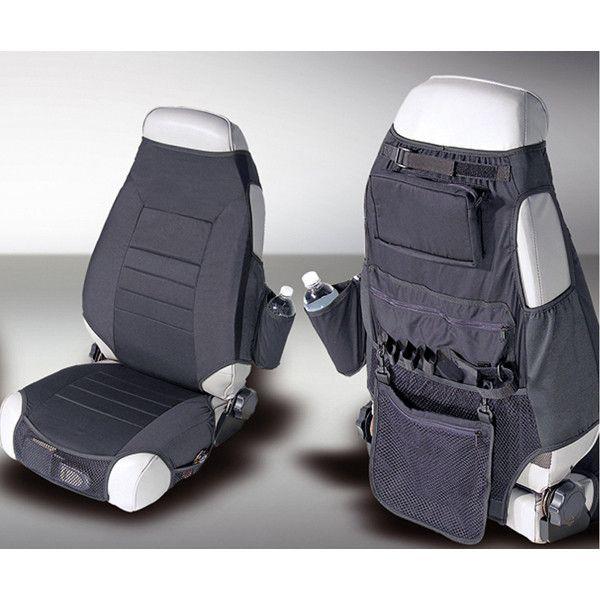Fabric Seat Protectors, Black; 76-06 Jeep CJ/Wrangler YJ/TJ