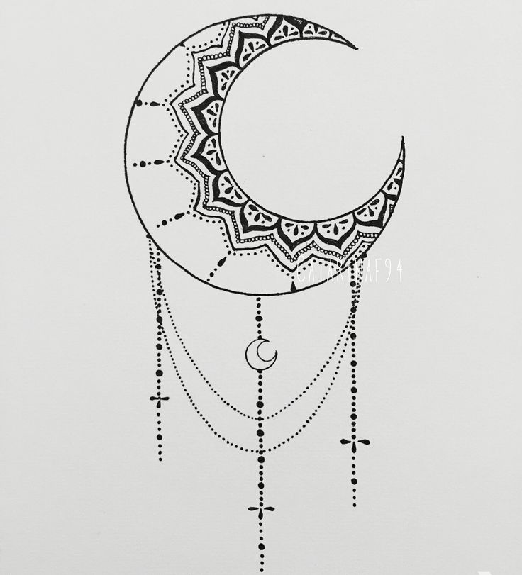 By me! Mandala moon, with pen on paper … | Pinteres…