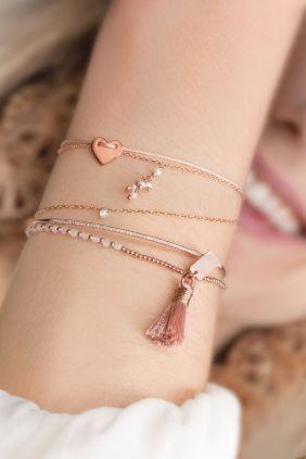 quasten armband rosa rose vergoldet kuegelchen rosenquarz http://amzn.to/2rukF5N