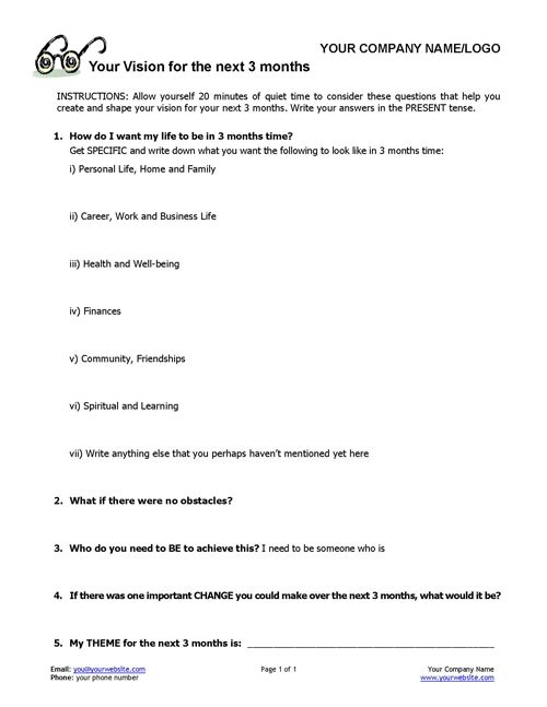 coaching worksheet Google Search – Life Coaching Worksheets