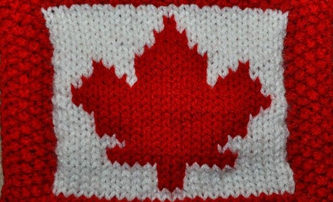 Maple leaf knitting pattern - KnitHit
