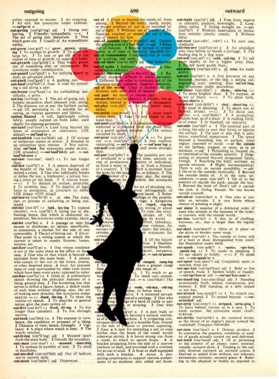Dictionary Wall decor art printVintagepostersdigitalillustration drawinggift ide… – Cudi Page