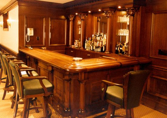 Residential Bars And Interior Woodwork By Wood Laminates Inc Custom Interiors