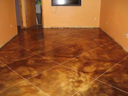 chicago basement decorative concrete kingdom interior