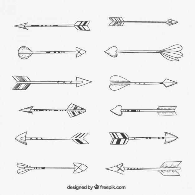 flèches dessinés à la main