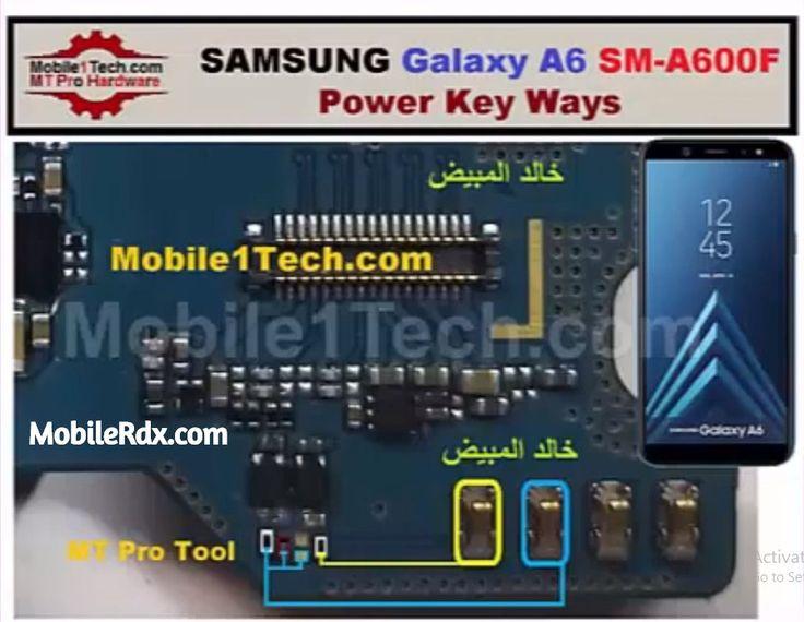 Samsung Galaxy A6 A600f Power Key Ways On