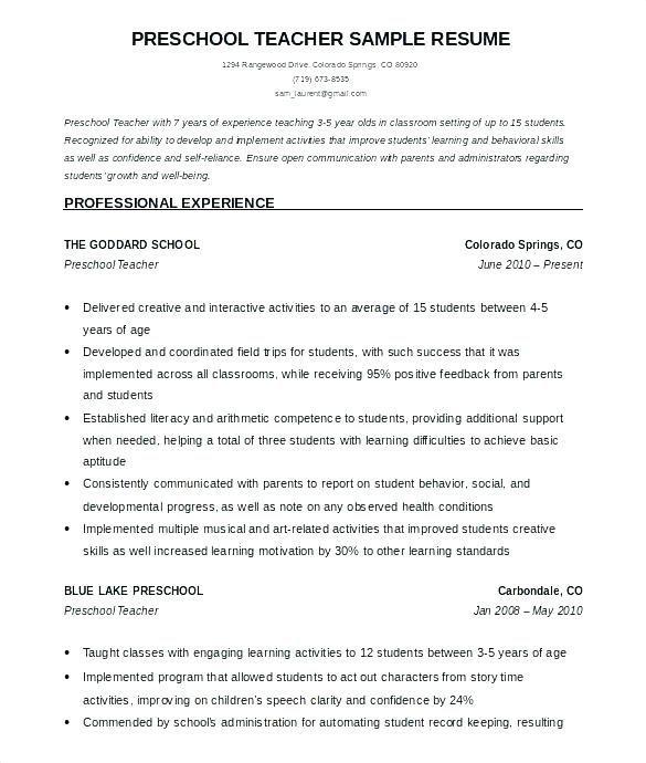 28 Teaching Assistant Resume Samples Di 2020