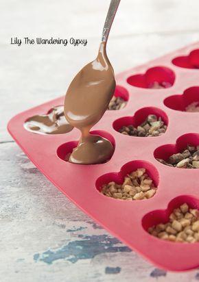 Gourmet corazones del caramelo