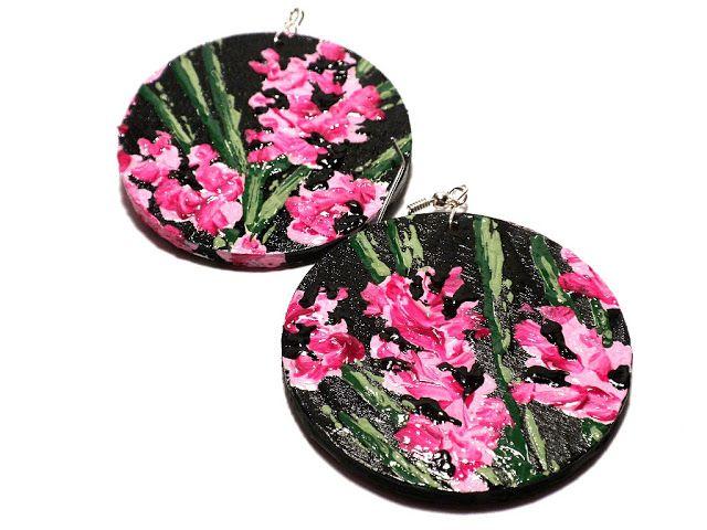 #handmade, #painted, #earrings