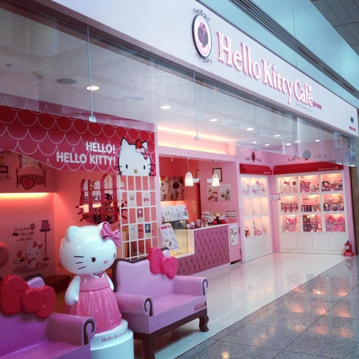 Hello Kitty Cafe in Incheon Airport Seoul Korea