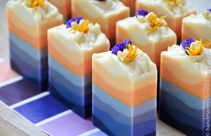 Exploring Natural Colorants in Cold Process Soap by Handmade in Florida. Love it!