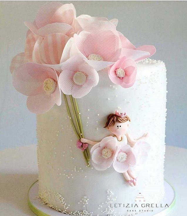 Flowers, ballerina cake