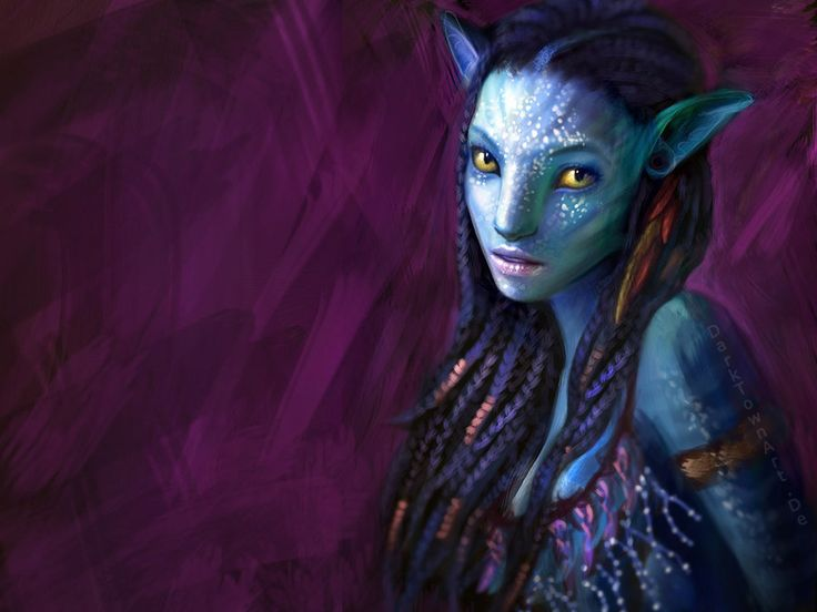 Neytiri from Avatar.  The movie was ok; this painting is amazing.