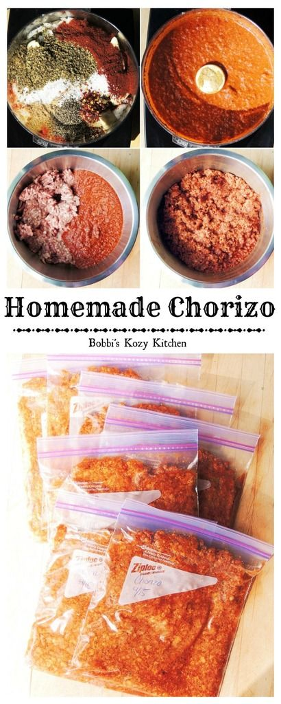 ****THIS I HAVE MADE **** Making your own chorizo sausage at home is so easy and so much healthier than the commercially prepared kind! | From www.bobbiskozykitchen.com