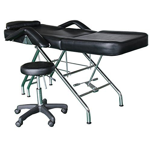 New Massage Table Bed Chair Beauty Barber Chair Facial Tattoo Chair Salon Equipment Includes Stool * Read more at the image link.