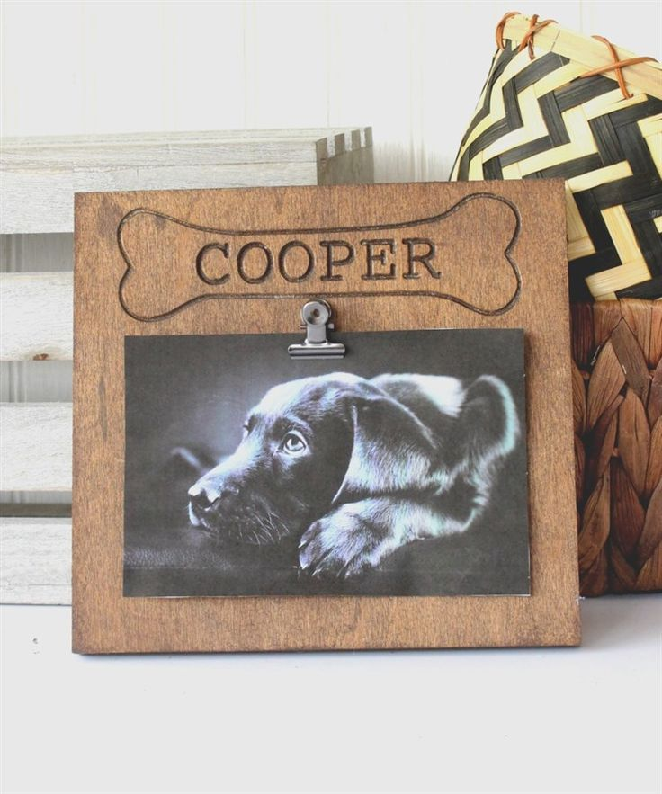 WOOF! WOOF! For all you dog lovers out there, this Finished Personalized frame…
