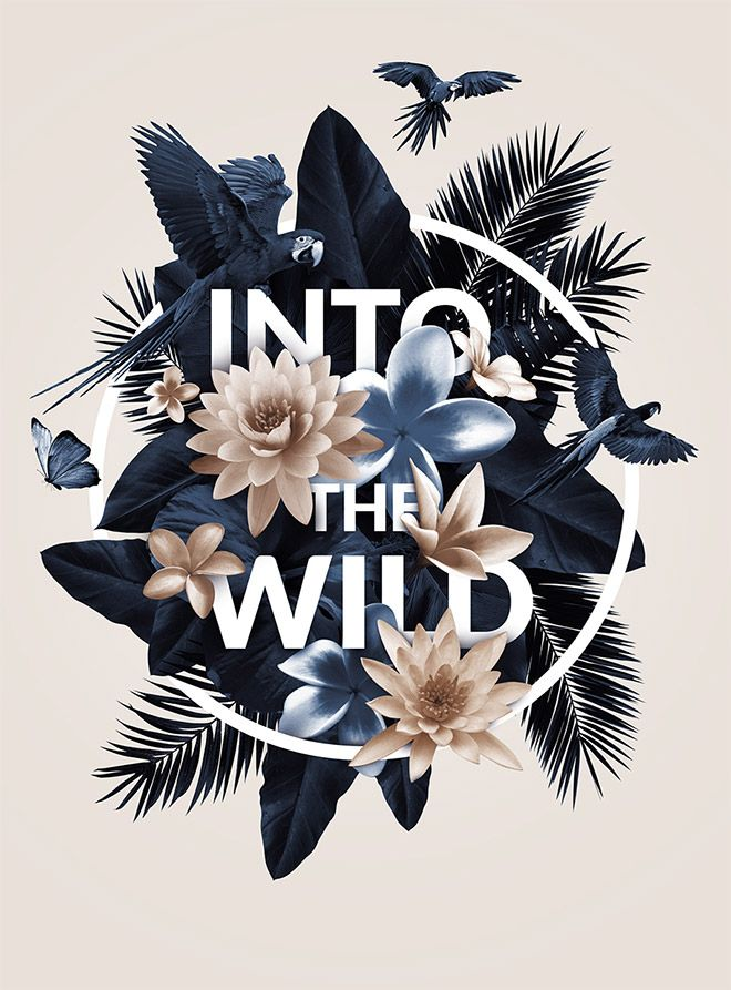 40 floral typography designs that combine flowers text - Graphic Design Ideas