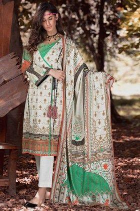 6ba3b838f2 Warda 3 Piece Custom Stitched Suit - Green - 3818852 Warda Prints Collection  2019 Silk Suit