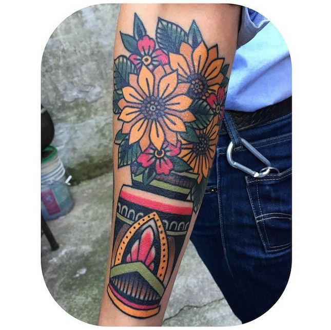 Image result for american traditional tattoos flowers
