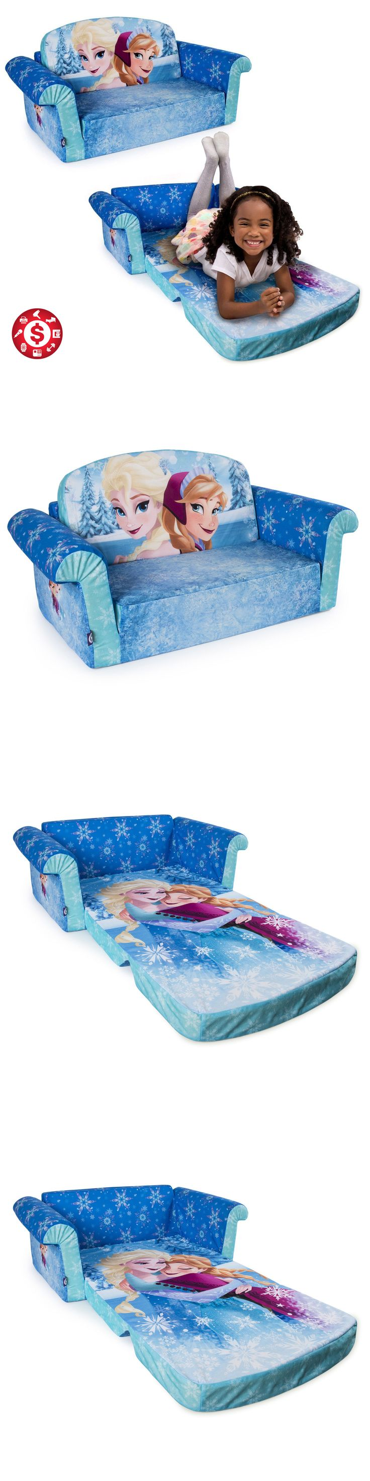 Sofas and Armchairs 134648: Sofa Open Bed Disney Kids Flip Toddler Couch Lounger Frozen Girls Room Furniture -> BUY IT NOW ONLY: $52.83 on eBay!