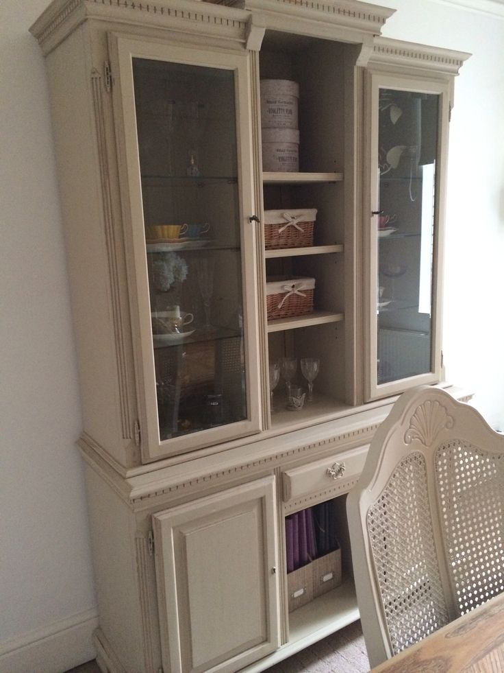 Dining Room Cabinet Painted In Annie Sloan Chalk Paint
