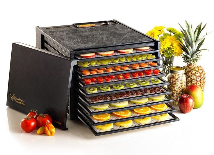Black 5 Plastic Tray Food Dehydrator Stainless Steel Hand Wash Meat Vegatables