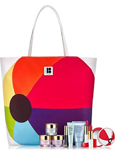 Estee Lauder 7 Pieces Skin Care and Makeup Gift Set with Lisa Perry Beachball Tote Bag >>> To view further for this item, visit the image link.