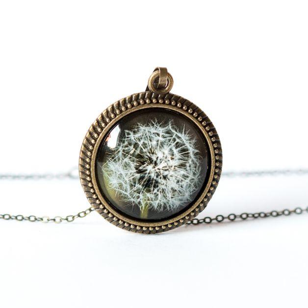 Naszyjnik z dmuchawcem / Dandelion necklace - Art-Of-Nature