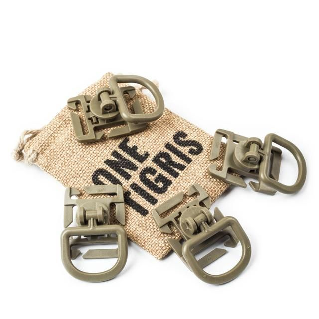 ONETIGRIS TACTICAL GRIMLOCK 360 ROTATION D-RING CLIPS BUCKLE MOLLE WEBBING ATTACHMENT BACKPACKS LOCKING CARABINER EDC 4PCS