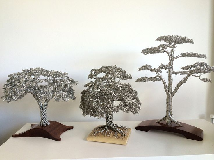 Using nothing but wire, sculptor Clive Madison creates tangled trees that grow from wooden bases into dense clusters of leaves and branches. The trees are handmade from single strand wires that run from the roots to the leaves. No glue, solder or other means are used to hold them together, it is purely down to …