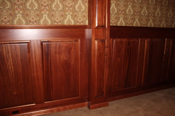 Mahogany Wainscoting Wood Wainscoting Stained