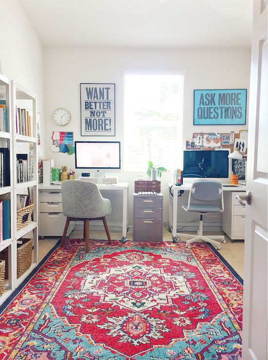 The Zhush: Blogger Home Tours: Shira Bess Interiors His and her home office