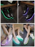 PrettyBaby 8 LED de color zapatos luminosos hombres y las mujeres de la moda Casual Zapatos de carga USB zapatos ligeros de colores brillantes parejas ocio zapatos planos