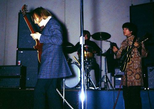 """ace1965: """" Buffalo Springfield's Stephen Stills and Richie Furay, with Dewey Martin on drums. Fillmore Auditorium, San Francisco, 1967. """""""