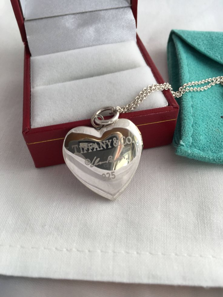 Excited to share the latest addition to my #etsy shop: Tiffany & Co. Heart Lockett Elsa Peretti Sterling Silver 925 Pendant Tiffany Authentic 925 Chain -  Authentic Tiffany and Co