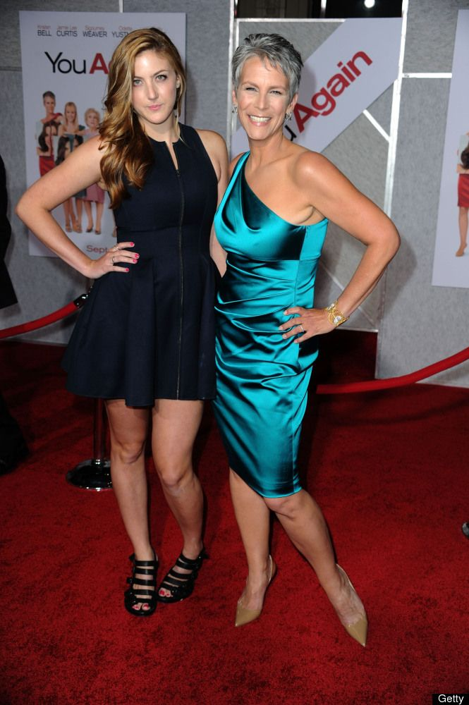 """Jamie Lee Curtis, 53, and daughter Annie. The mother of two told USA Today: """"Whatever my life brings me, no matter what or how far I reach out into the universe, the only change that really matters in my life is the feelings that are with my family, my children."""""""
