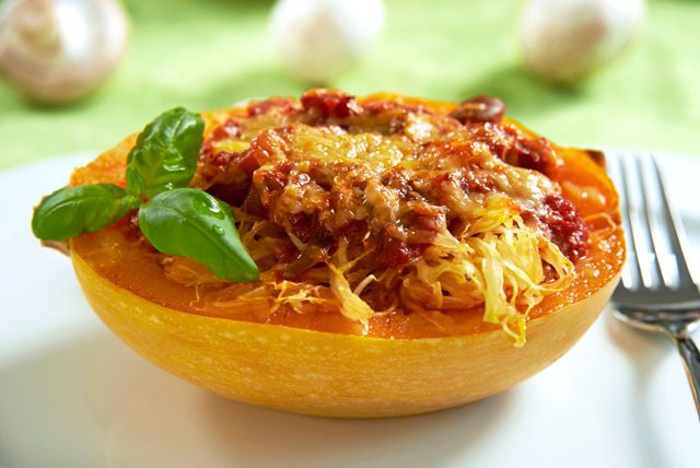 Looking for a tasty vegetarian recipe?  Our Cheesy Baked Spaghetti Squash with Mushroom Ragu fits the bill. And this hearty recipe is sure to be a hit with both vegetarians and meat-lovers alike!