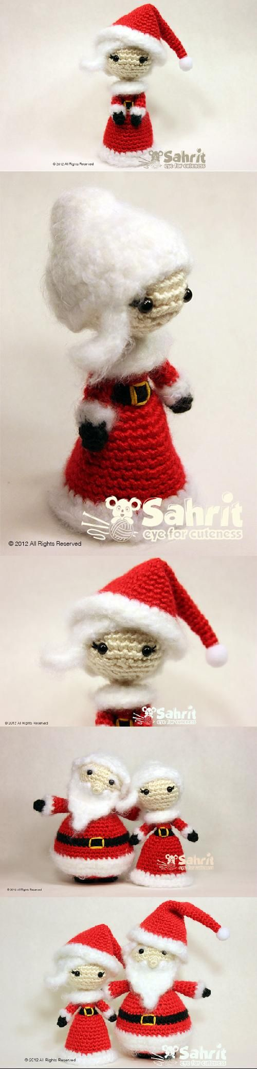 50 best christmas mrs claus crochet images on pinterest mrs santa claus amigurumi pattern by sahrit bankloansurffo Image collections