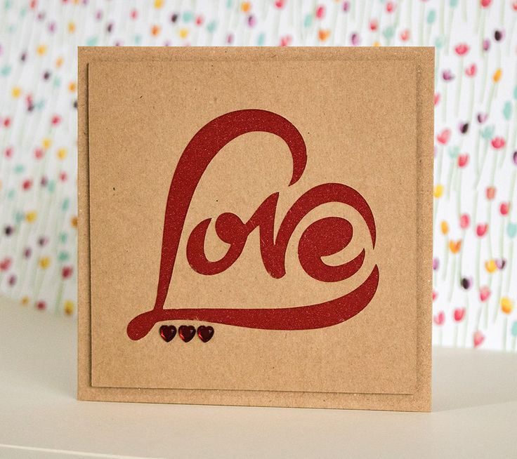 Rustic Kraft Paper Cut, Valentine Card, Love Heart Card, I Love You Card, Anniversary Card, to my Husband, to my Wife, To my Partner,