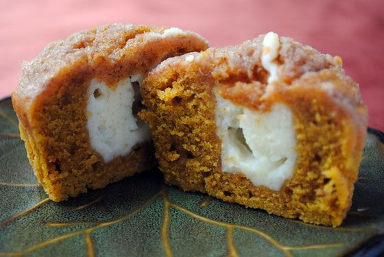 I need to make these...like yesterday!  Pumpkin Cream Cheese Muffins
