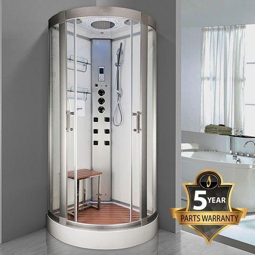 Insignia INS3000 Steam Shower Enclosure 900mm White cabin AMI Essence #SteamShowerEnclosure