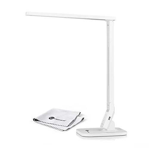 $60 is a much better price. TaoTronics® Elune TT-DL02 Dimmable LED Desk Lamp (Piano White, 4 Lighting Modes: Reading/Studying/Relaxation/Bedtime, 5-Level Dimmer, Touch-Sensitive Control Panel, 1-Hour Auto Timer, 5V/1A USB Charging Port) TaoTronics http://smile.amazon.com/dp/B00APAQT4Q/ref=cm_sw_r_pi_dp_-eBTub1NKYCQX
