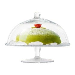 ARV BRÖLLOP Cake stand with lid, clear glass - IKEA- surprisingly light for a cake stand.